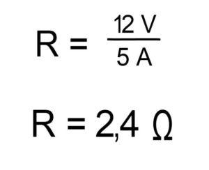 U=R*I